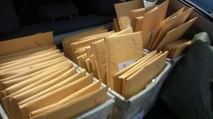 One of many, *many* trips to Post Office to deliver OBM reward kits.